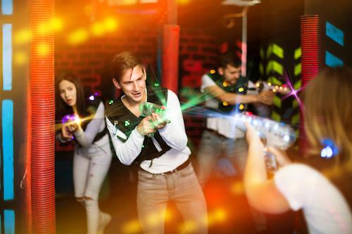People playing laser tag