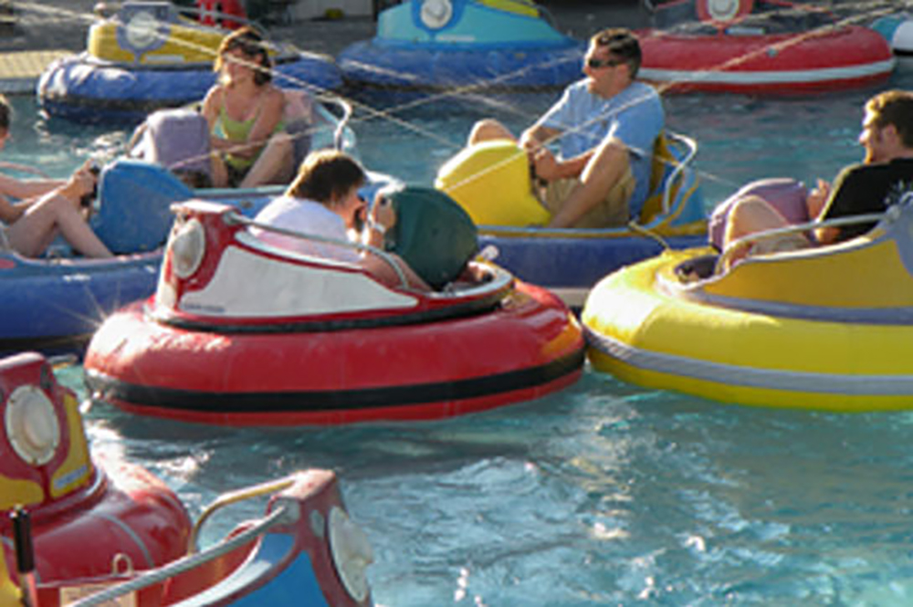 Bumper Boats In Action