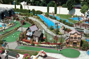 Aerial View of Mini Golf