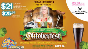 Oktoberfest 21 and over night at Bullwinkle's