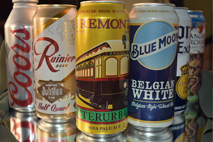 Beer selection cans