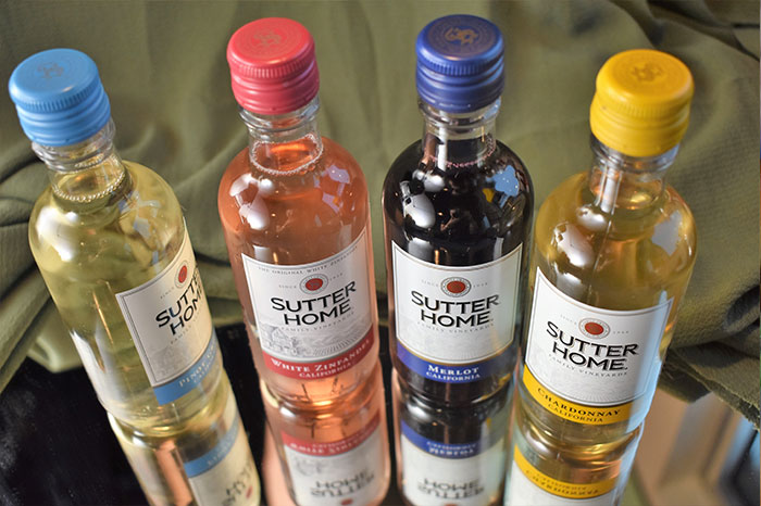 Sutter Home Wine bottles