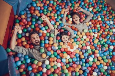 Family In Ball Pit