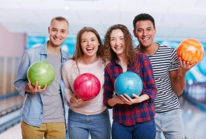 Fun Center Young Adults Bowling