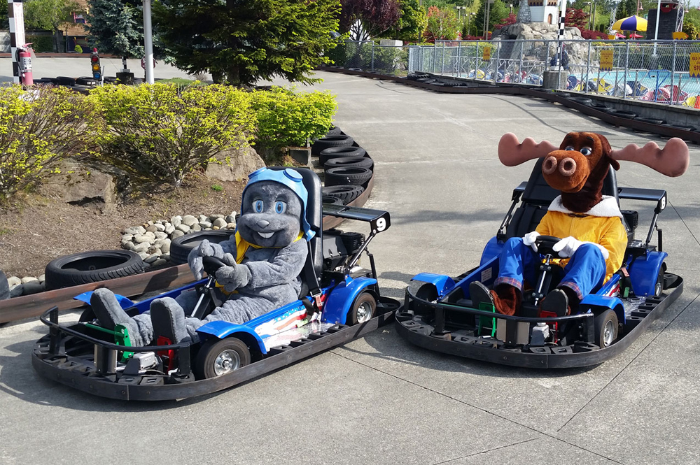 Bullwinkle and Rocky on Go Karts