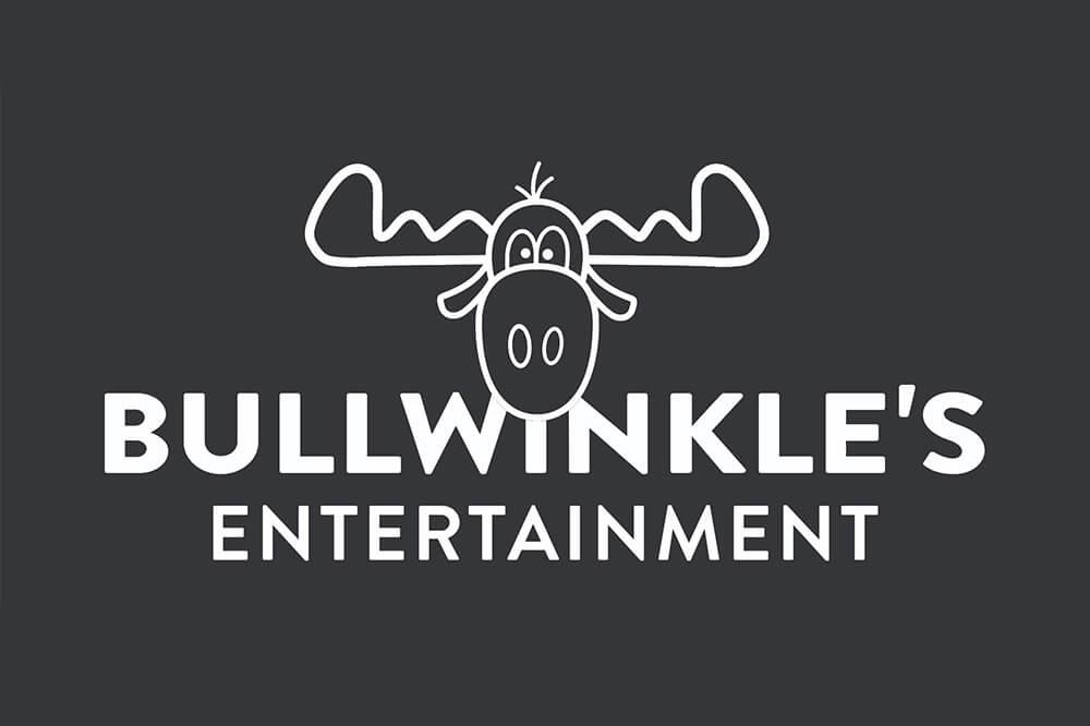 Bullwinkle's White Entertainment Logo