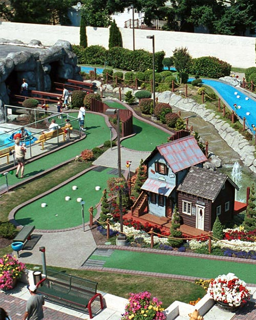 Attractions | Miniature Golf aerial view